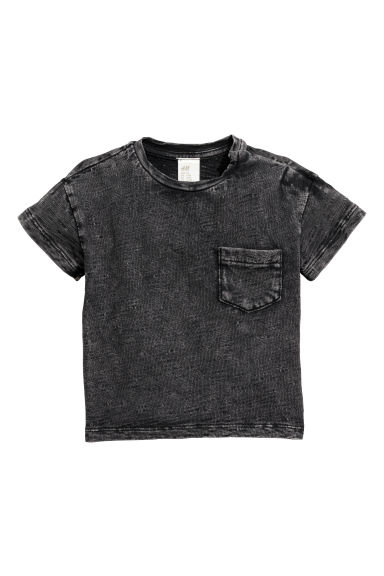Camiseta lavada - Negro washed out - NIÑOS | H&M ES