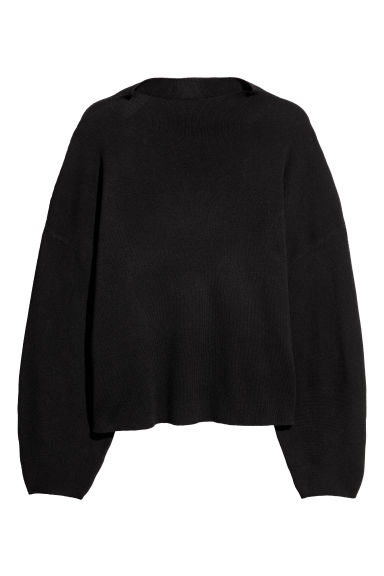 H&M+ Knitted jumper - Black - Ladies | H&M IE