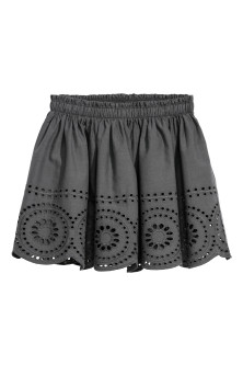 Skirt with a hole pattern