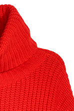 Knitted wool-blend jumper - Bright red -  | H&M CN 3