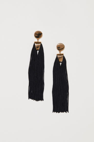 Long earrings - Gold-coloured/Black - Ladies | H&M