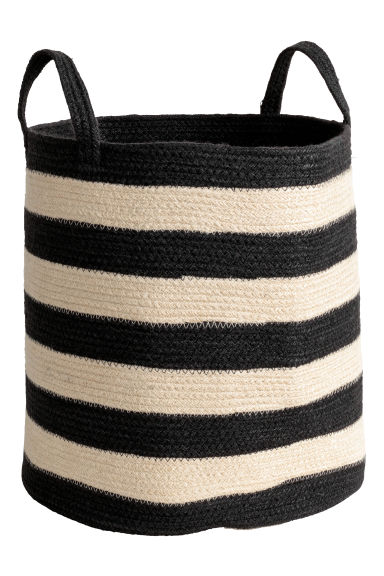 Jute storage basket - Natural/Black - Home All | H&M