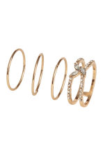 7-pack rings - Gold-coloured - Ladies | H&M CN 1