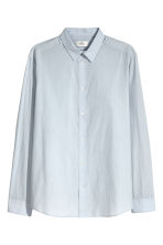 Cotton poplin shirt - Light blue - Men | H&M 3
