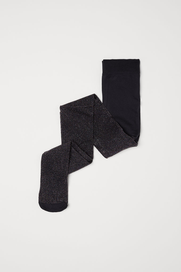 Glittery tights - Black - Kids | H&M GB