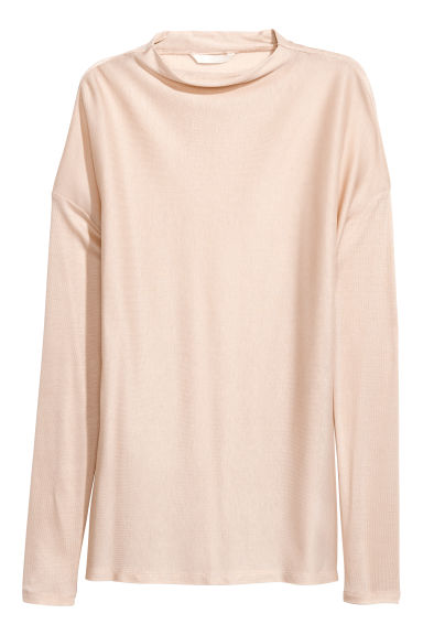 Lyocell top - Light beige - Ladies | H&M CN