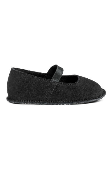 Suede ballet pumps - Black -  | H&M GB