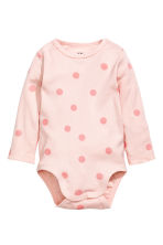 2-pack long-sleeved bodysuits - Light pink/Spotted -  | H&M GB 2