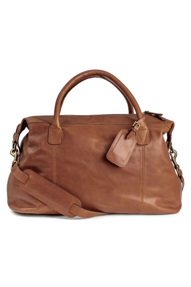 Leather weekend bag - Brown - Men | H&M CN 1