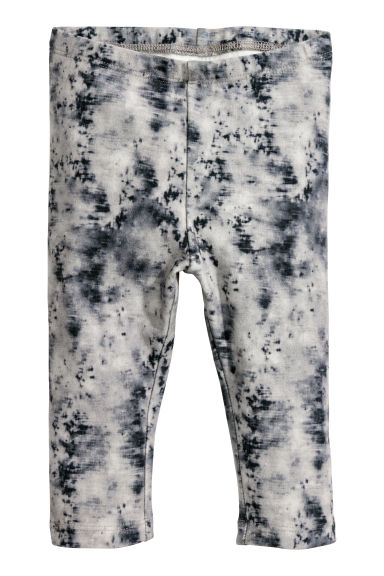 Patterned leggings - Grey patterned -  | H&M CN