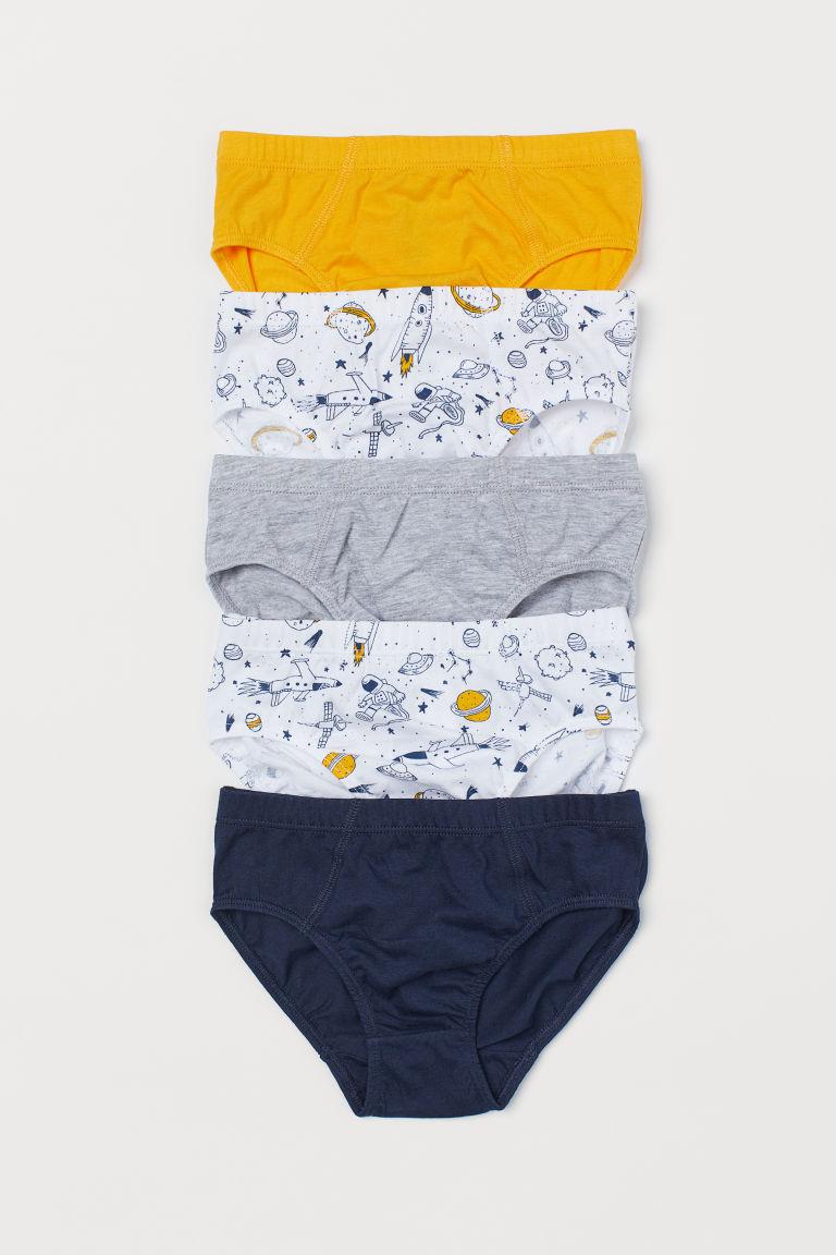 5-pack boys' briefs - Mustard yellow/Space - Kids | H&M GB