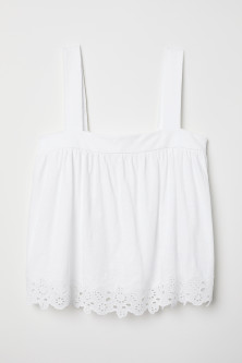 Top with Eyelet Embroidery