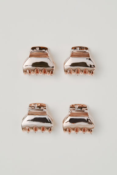 4-pack hair claws - Rose gold-coloured - Ladies | H&M CN