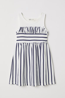 Jersey dress with a frill