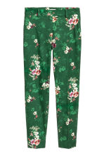 Tailored trousers - Green/Floral - Ladies | H&M IE 2
