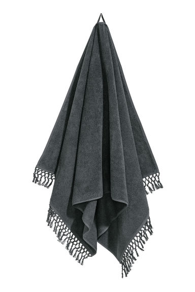 Tasselled bath towel - Anthracite grey - Home All | H&M CN