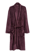 Fleece dressing gown - Plum - Men | H&M 2