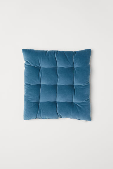 Velvet seat cushion - Petrol - Home All | H&M CN