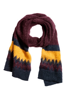 Knitted mohair-blend scarf