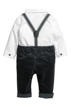 Shirt and trousers - White/Black -  | H&M CN 2