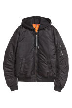 Padded bomber jacket - Black - Men | H&M 2