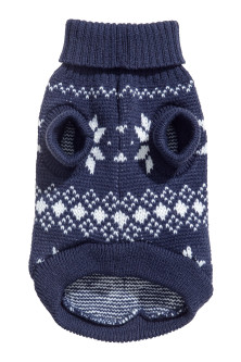 Jacquard-knit dog jumper