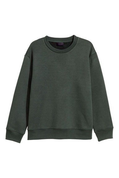 Felpa - Verde scuro - UOMO | H&M IT