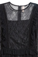 Frilled lace dress - Black - Ladies | H&M IE 3