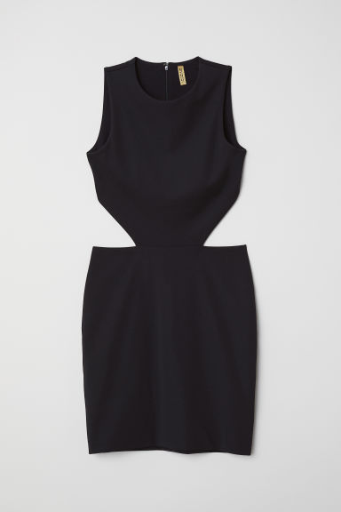 Jurk met cut-out - Zwart - DAMES | H&M BE