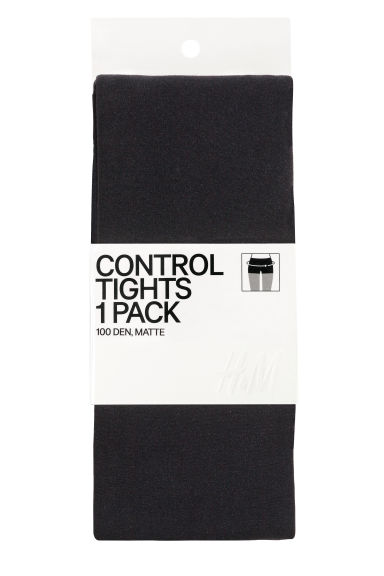 100 denier control-top tights Model