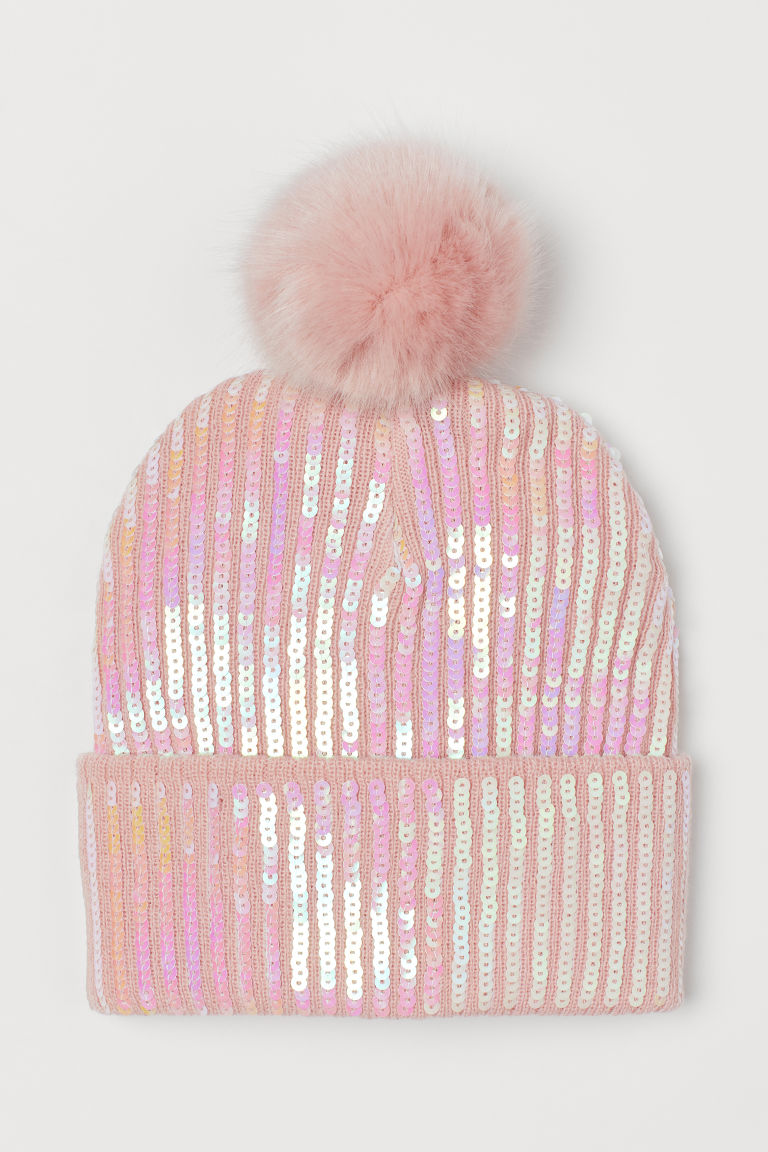 Knit Hat with Sequins