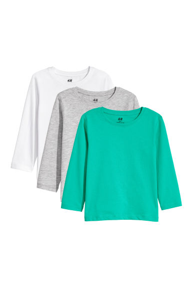3-pack jersey tops - Bright green -  | H&M