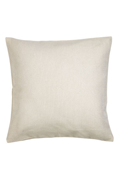Cotton cushion cover - Light beige -  | H&M CN