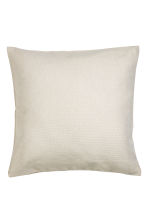 Cotton cushion cover - Light beige - Home All | H&M CN 1