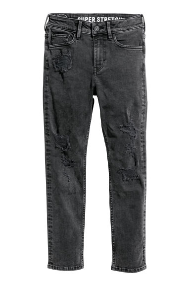 Skinny Fit Jeans - Noir washed out - ENFANT | H&M FR