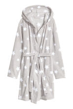 Fleece dressing gown - Light grey/Stars - Ladies | H&M 2