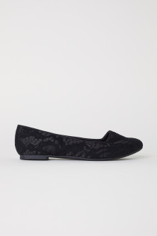 Loafers i satin