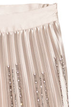 Pleated skirt - Light beige/Sparkly stones - Ladies | H&M IE 3