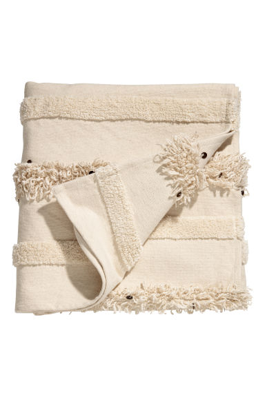 Blanket with sequins - Natural white/Sequins - Home All | H&M IE