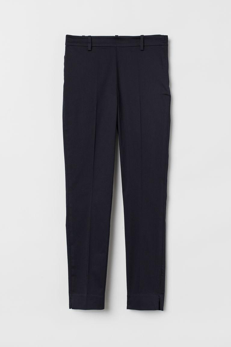 Cigarette trousers - Dark blue - Ladies | H&M GB