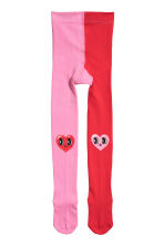 2-pack tights - Pink/Hearts - Kids | H&M CN 2