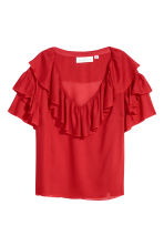 Flounced top - Red - Ladies | H&M CN 2