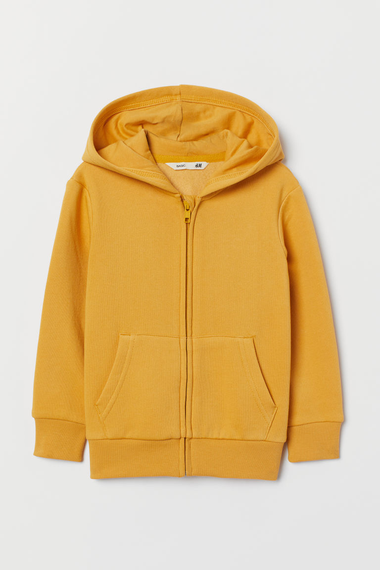 Hooded jacket - Yellow - Kids | H&M GB
