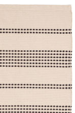 Textured striped cotton rug - Natural white/Anthracite grey - Home All | H&M GB 2