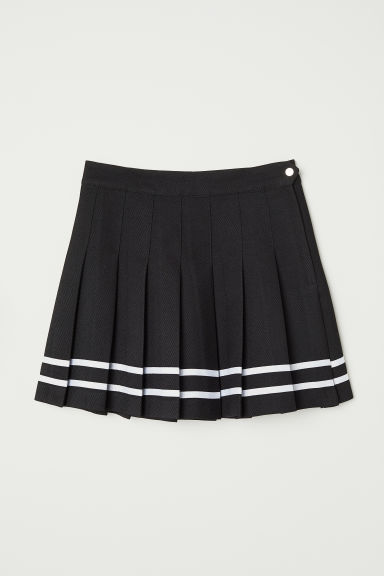 Pleated skirt - Black -  | H&M CN