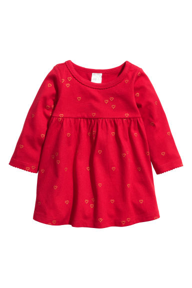 Jersey dress - Red/Hearts - Kids | H&M