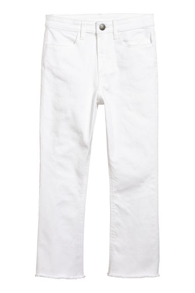 Kickflare trousers - White - Kids | H&M CN