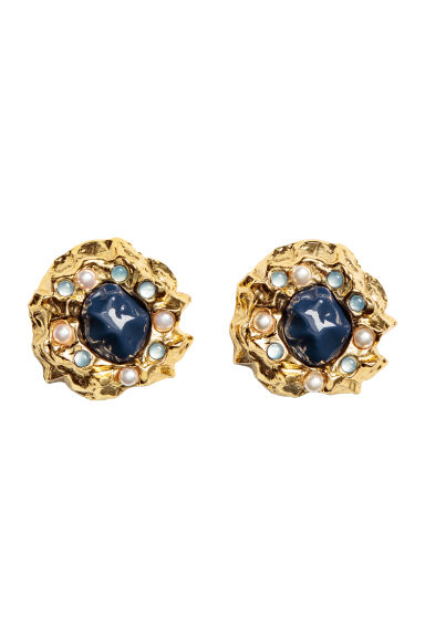 Large earrings - Gold-coloured - Ladies | H&M IE 1