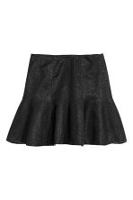 Glittery skirt - Black/Glittery - Ladies | H&M 2