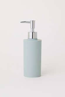 Matt plastic soap dispenser